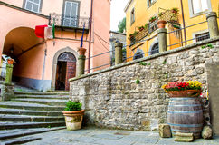 Montefiascone village steps alley - Lazio - Viterbo -  discover Royalty Free Stock Image