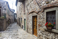 Montefioralle (Chianti, Тоскана) Стоковое Изображение