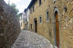 Montefioralle (Chianti, Тоскана) Стоковое фото RF