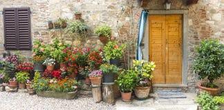 Montefioralle (Chianti, Тоскана) стоковая фотография rf