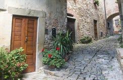 Montefioralle (Chianti, Toscana) Fotos de archivo