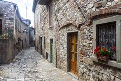 Montefioralle (Chianti, Toscanië) Stock Afbeelding