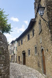 Montefioralle (Chianti, Toscanië) Stock Afbeeldingen