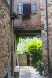 Montefioralle (Chianti, Toscanië) Stock Foto