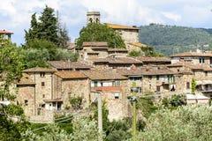 Montefioralle (Chianti, Toscanië) Stock Foto's