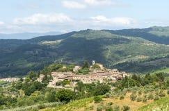 Montefioralle (Chianti, Toscanië) royalty-vrije stock foto's