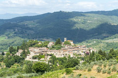 Montefioralle (Chianti, Tuscany). Montefioralle (Greve in Chianti, Florence, Tuscany, Italy): medieval village stock photography