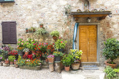 Montefioralle (Chianti, Tuscany). Montefioralle (Greve in Chianti, Florence, Tuscany, Italy): medieval village stock photo