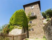 Montefioralle (Chianti, Tuscany) royalty free stock photo
