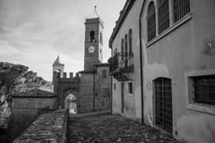 Montefiore Conca (Римини) Стоковое Изображение RF