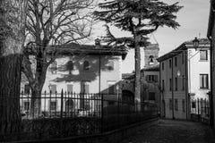 Montefiore Conca (Rimini). Medieval landscape in Rimini, Emilia-Romagna (Italy Stock Photography