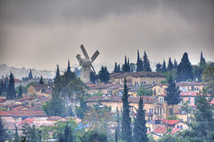 Montefiore-Windmühle, Jerusalem Israel lizenzfreies stockbild
