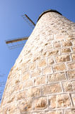 Montefiore Windmill, Jerusalem Stock Photos