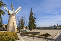 Montefiore windmill, Jerusalem. Royalty Free Stock Photography