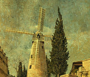 Montefiore windmill, Jerusalem. Royalty Free Stock Image