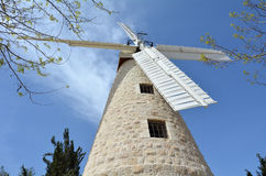 Montefiore Windmill in  Jerusalem  Israel Stock Photography