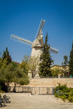 Montefiore Windmill in Jerusalem, Israel Stock Photography