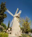 Montefiore Windmill in Jerusalem, Israel Stock Photos