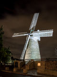Montefiore Windmill at night, Jerusalem Stock Photography