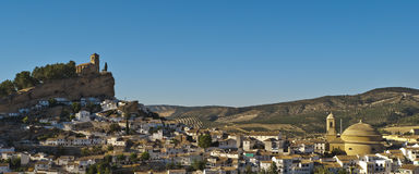 Montefrío. Panoramic views of the town of Montefrio Royalty Free Stock Photography
