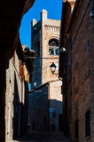 Сценарная деревня Италия montefrabbri ландшафта мартов Стоковые Изображения RF
