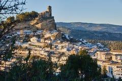 Montefrio村庄看法格拉纳达省的,西班牙 免版税库存图片