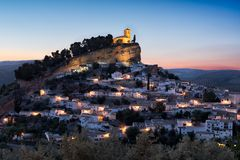 Montefrio at sunset, Andalusia, Spain Royalty Free Stock Image