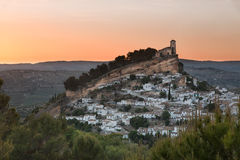 Montefrio at sunset, Province of Granada, Spain Stock Image