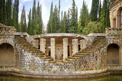 Montegabbione: Scarzuola, the Ideal City, Umbria region. Italy. stock photography