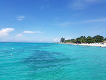 Montego bay in jamaica. Seascape royalty free stock image