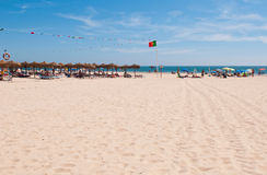 Montegordo海滩 免版税库存图片