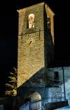 Montegridolfo (Rimini). Clock tower. Clock tower of Montegridolfo (Rimini. Emilia-Romagna, Italy Stock Image