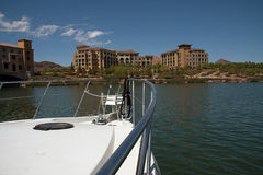 Montelago casino. Lake las vegas shore, montelago casino from boat Stock Images