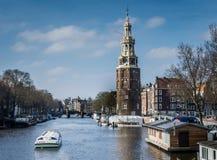 Montelbaans tower Amsterdam Royalty Free Stock Photo