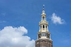 Montelbaanstoren torn i Amsterdam, Nederländerna Arkivfoton