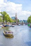 Montelbaanstoren tower in Amsterdam, Netherlands. Royalty Free Stock Photography