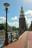 Montelbaanstoren Tower. Amsterdam, Netherlands. Royalty Free Stock Images