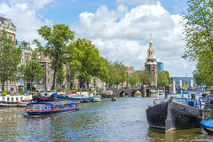Montelbaanstoren tower in Amsterdam, Netherlands. Royalty Free Stock Images