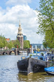 Montelbaanstoren tower in Amsterdam, Netherlands. Stock Images