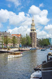 Montelbaanstoren tower in Amsterdam, Netherlands. Royalty Free Stock Photos
