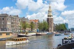 Montelbaanstoren tower in Amsterdam, Netherlands. Royalty Free Stock Image