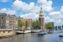 Montelbaanstoren tower in Amsterdam, Netherlands. Royalty Free Stock Images