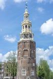 Montelbaanstoren tower in Amsterdam, Netherlands. Stock Images