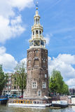 Montelbaanstoren tower in Amsterdam, Netherlands. Stock Photography