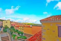 Monteleone di Villanova un chiaro giorno di estate Immagine Stock