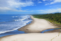 Montelimar strand royaltyfria foton