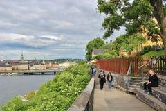 Monteliusvägen at Södermalm Royalty Free Stock Photos