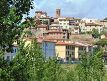 Montelupo Fiorentino, Tuscany, Italy. View of the town, panorama. Montelupo Fiorentino, Tuscany, Italy. Panorama of the historic part of the city. Architecture stock images