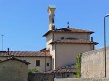 Montelupo Fiorentino, Tuscany, W?ochy Widok parafia Santi Quirico i Lucia wszystkie ?Ambrogiana obraz stock