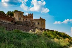 Montemagno`s Castle in Italy stock photography